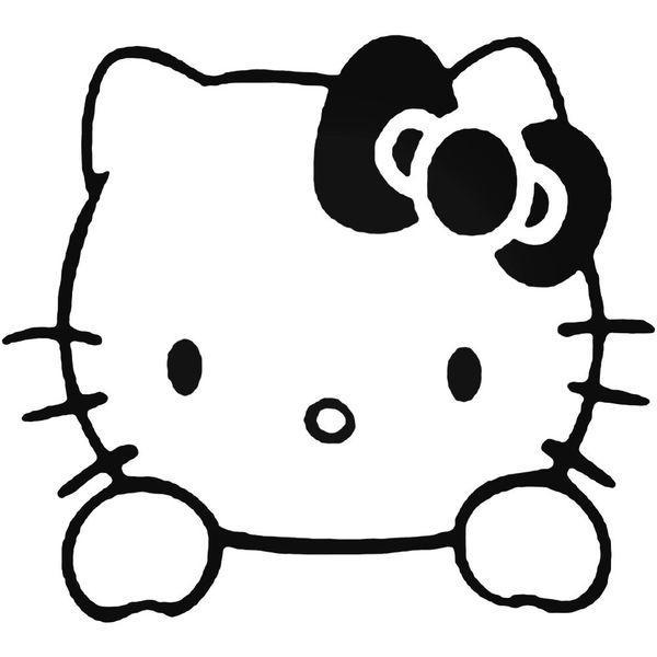Hello Kitty Windows Decal Sticker