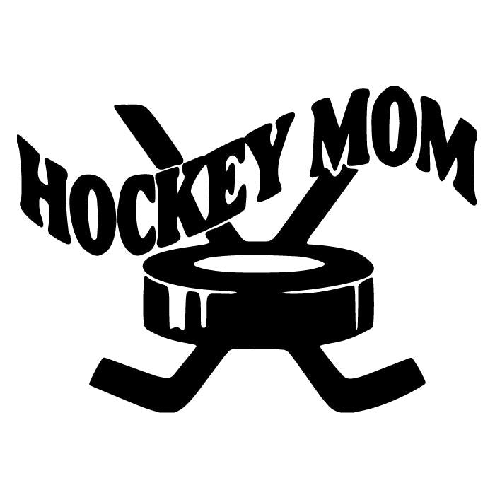 Hockey Mom Car Window Decal Sticker