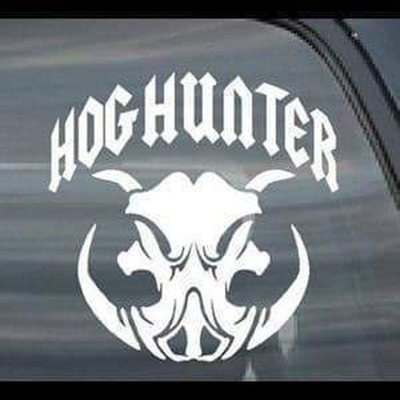 Hog Hunter II Hunting Window Decal Sticker