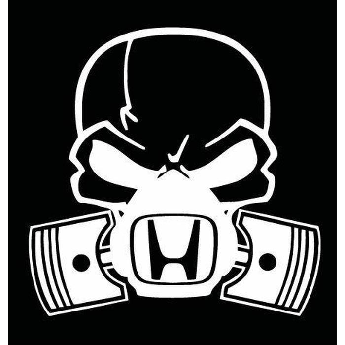 Honda skull mask JDM Car Window Decal Stickers
