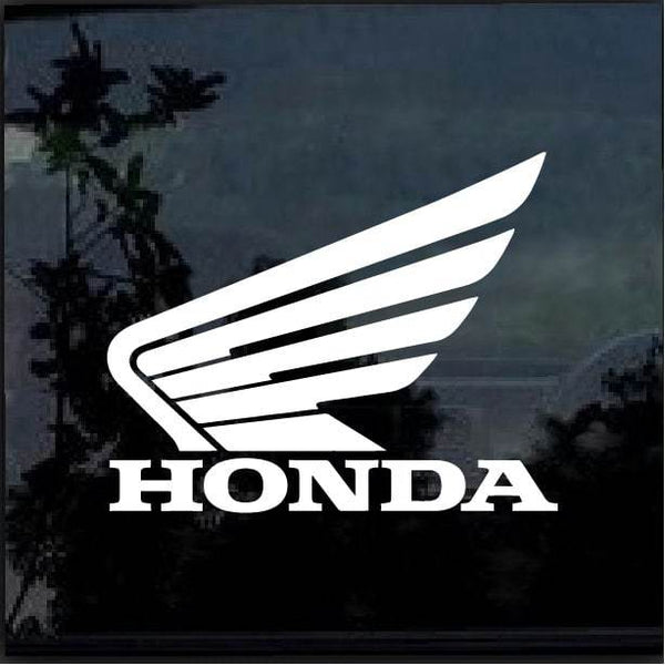 Honda Winged Logo Window Decal Sticker