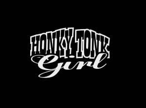Honky Tonk Cowgirl Window Decal Sticker