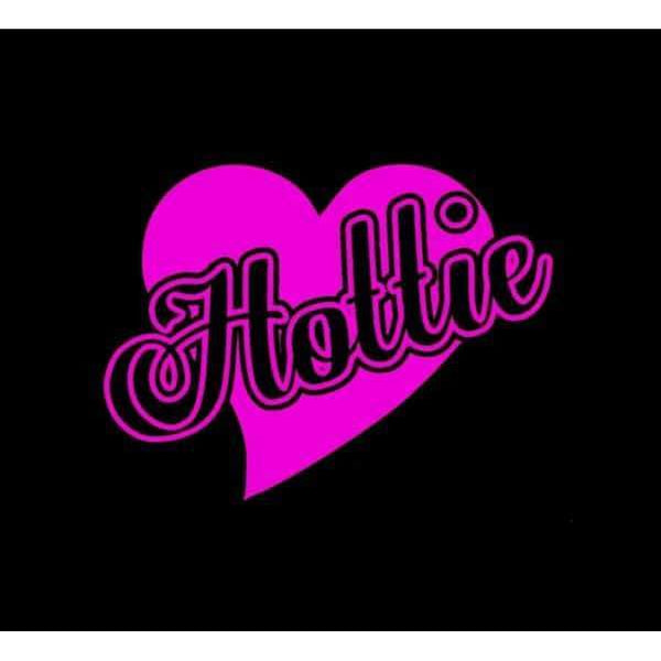 Hottie Heart Window Decal Sticker