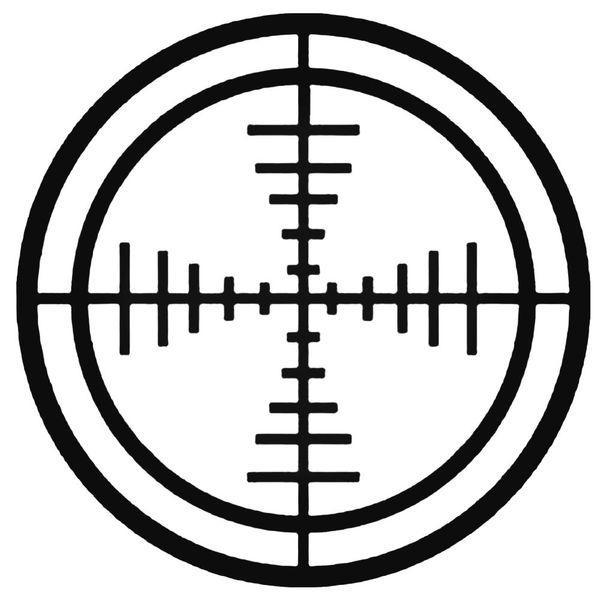 Hunting Crosshair Bullseye Decal Sticker