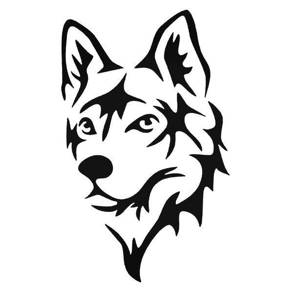 Husky Dog Head Decal Sticker