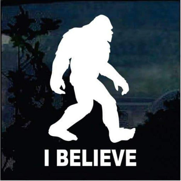I Believe Sasquatch decal – Bigfoot stickers