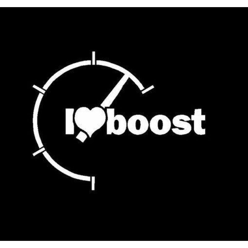I Love Boost JDM Car Window Decal Stickers