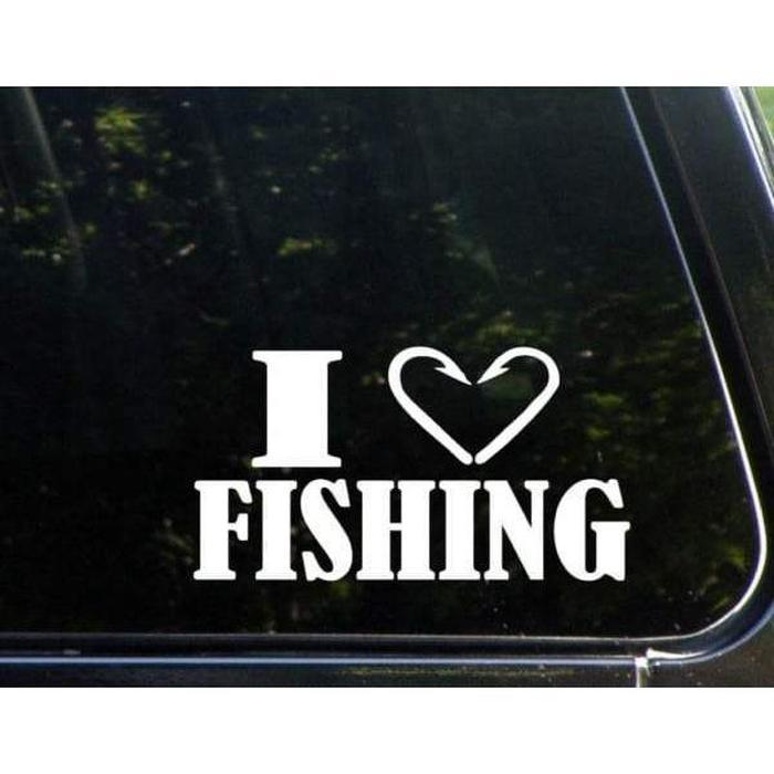 I love Fishing Decal Stickers