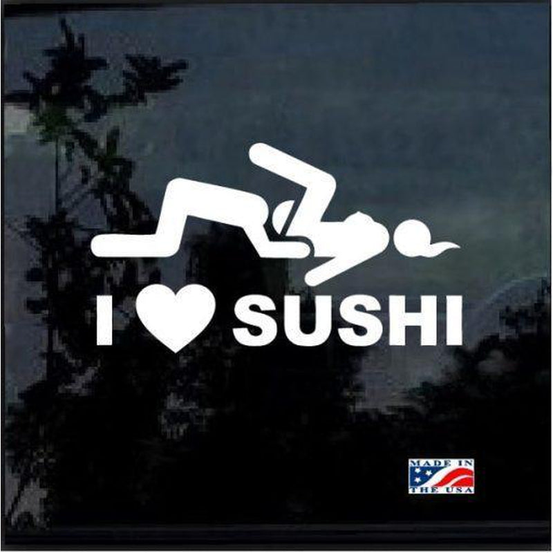 I love Sushi JDM Car Window Decal Stickers