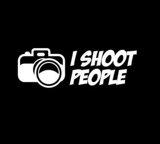 I shoot People Photography Photographer Decal Sticker