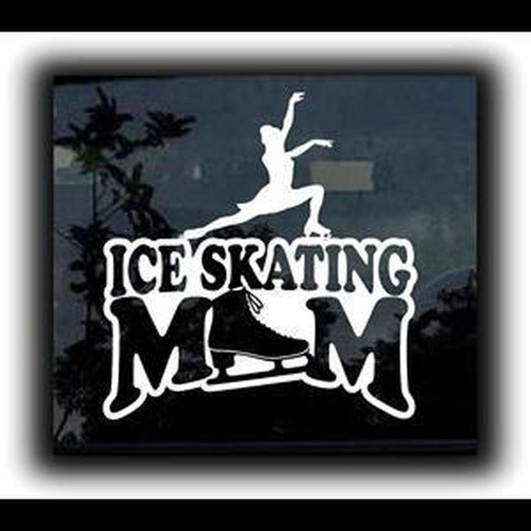 Ice Skating Mom Window Decal Sticker A1