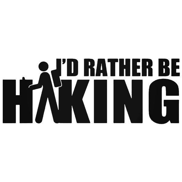 Id Rather Be Hiking Decal Sticker