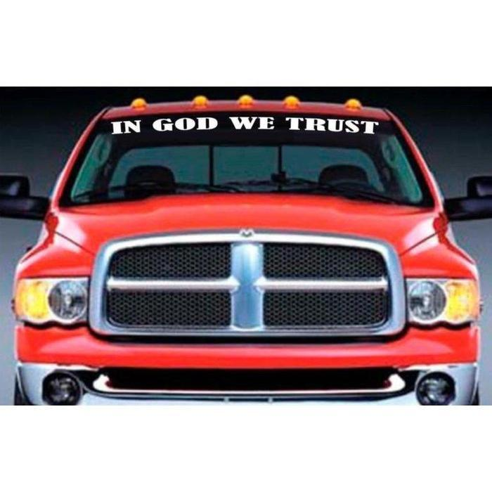 In God We Trust Windshield Banner Decal Sticker A2