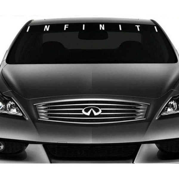 Infiniti Windshield Banner Decal Sticker A1