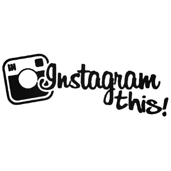 Instagram This 1 Decal Sticker