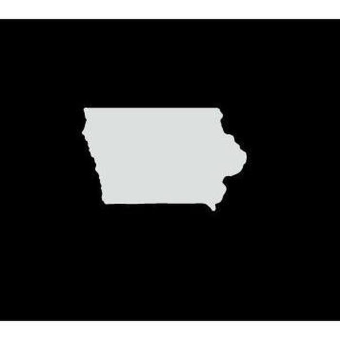 Iowa State Silhouette Truck Decal Sticker