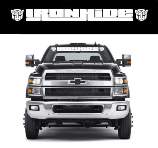 Ironhide Transformer Autobot Chevy 4500 – Windshield Banner Decal Sticker