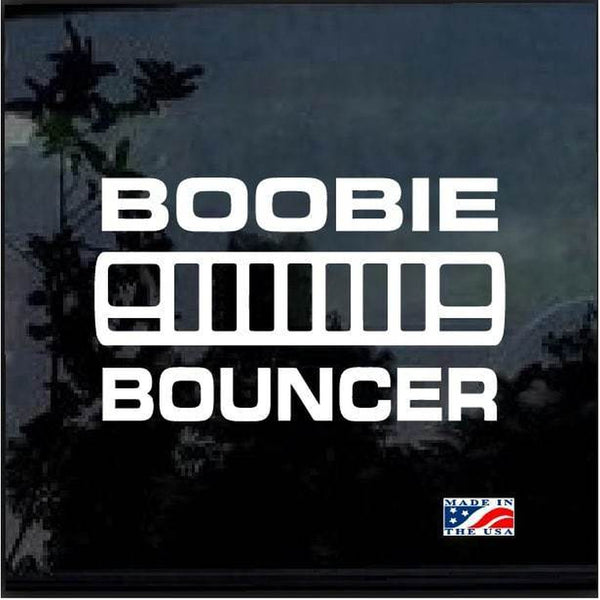 Jeep Cherokee XJ Boobie Bouncer Jeep Decal Stickers