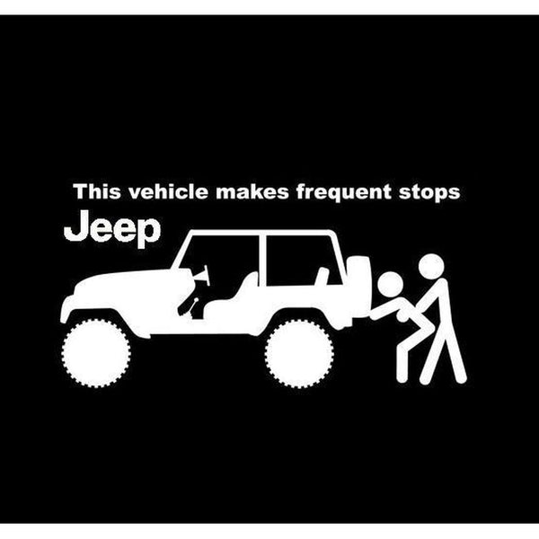 Jeep Frequent Stops Jeep Decal Stickers