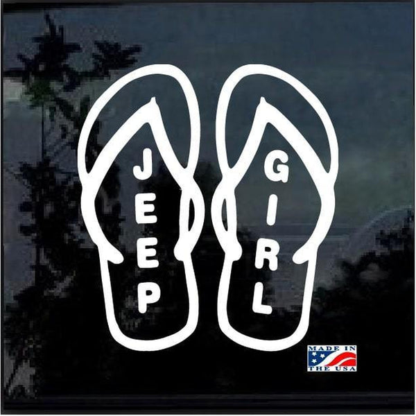 Jeep Girl Flip Flops Jeep Decal Stickers