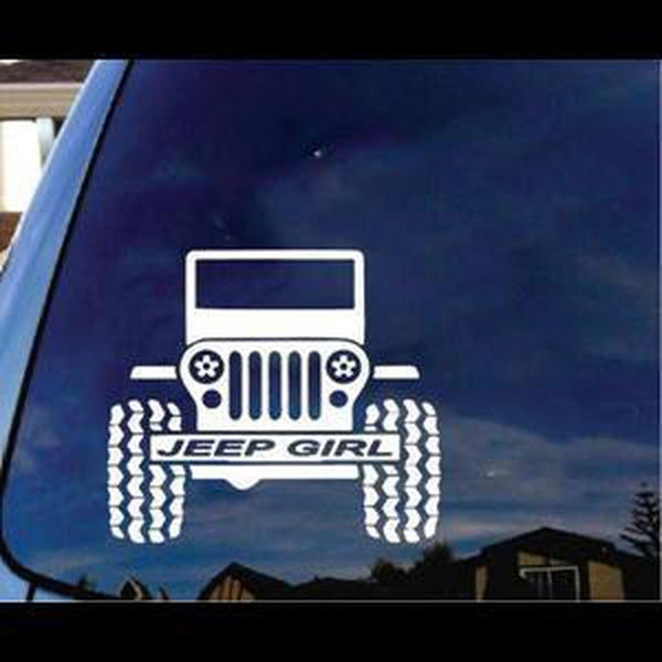 Jeep Girl Jeep Decal Stickers A2