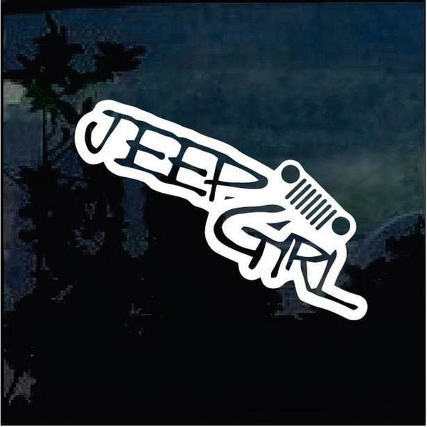 Jeep Girl Jeep Decal Stickers A5