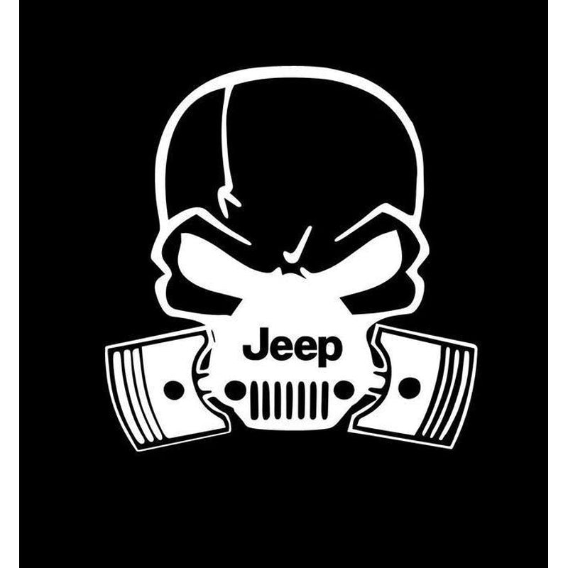 Jeep Pistons Skull Mask Jeep Decal Stickers