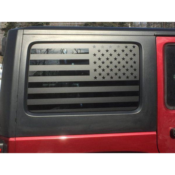 Jeep Side window Flag Decals