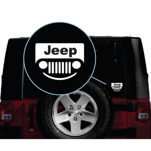 Jeep smile grill Jeep Decal Stickers