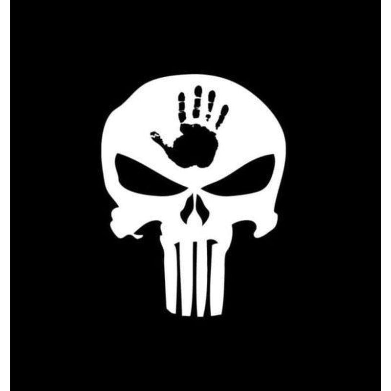 Jeep Wave Punisher Skull Jeep Decal Stickers