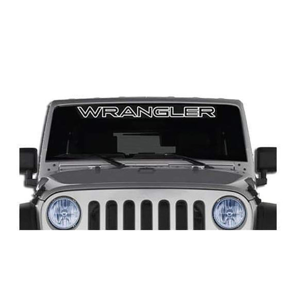 Jeep Wrangler Windshield Banner Decal Sticker A2 outlined