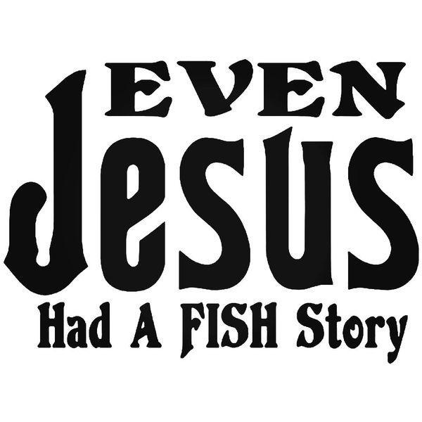 Jesus Fish Story Decal Sticker
