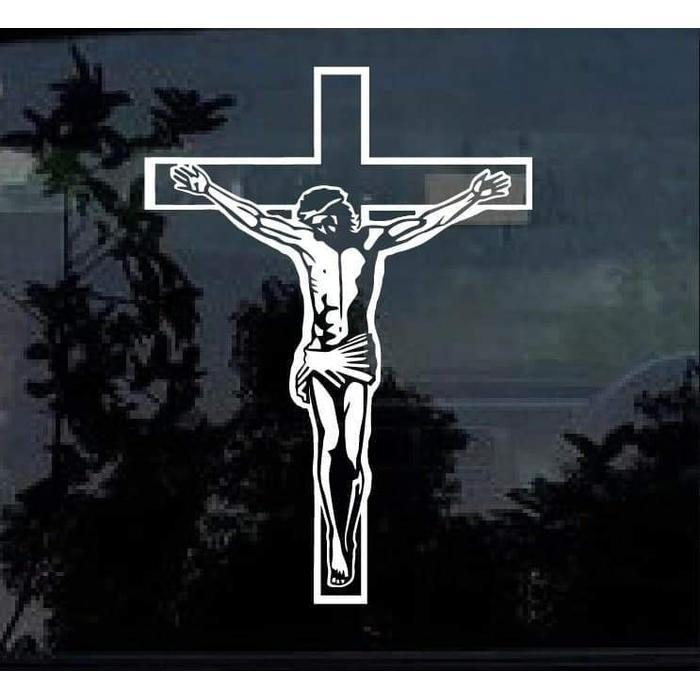 Jesus on Cross a2 Christian Decal Stickers