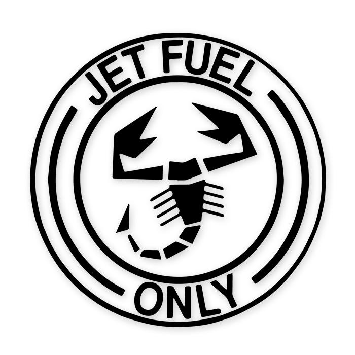 Jet Fuel Only Abarth Decal Sticker