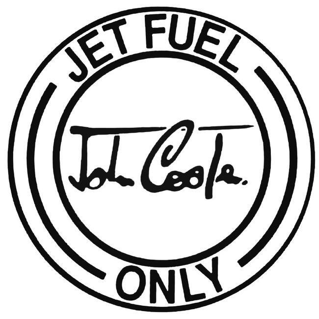 Jet Fuel Only John Cooper Decal Sticker