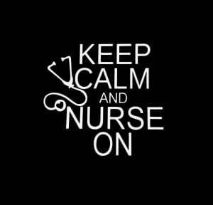 Keep Calm and Nurse on a3 Window Decal Sticker