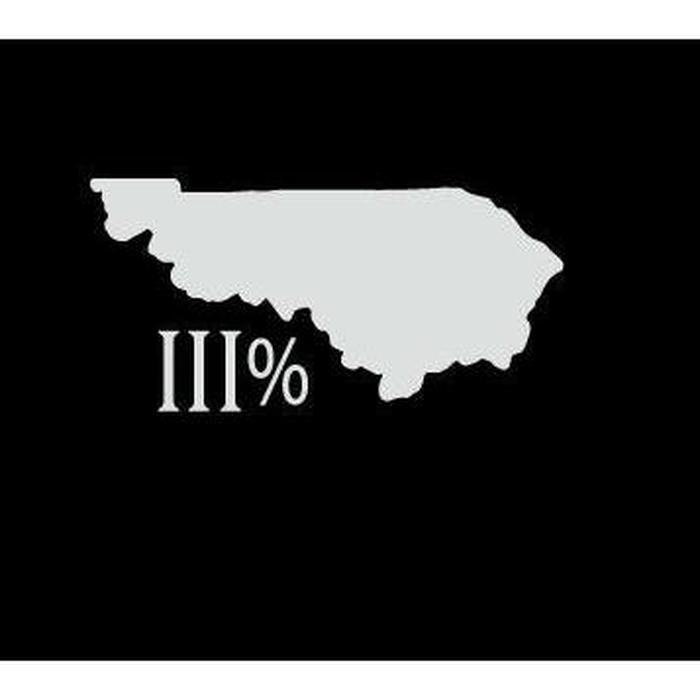 Kentucky III% 3 percenter Silhouette Truck Decal Sticker