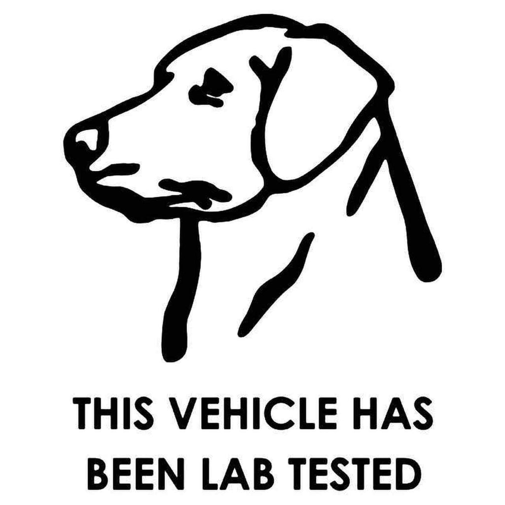 Labrador Retriever Lab Tested Car Decal Sticker