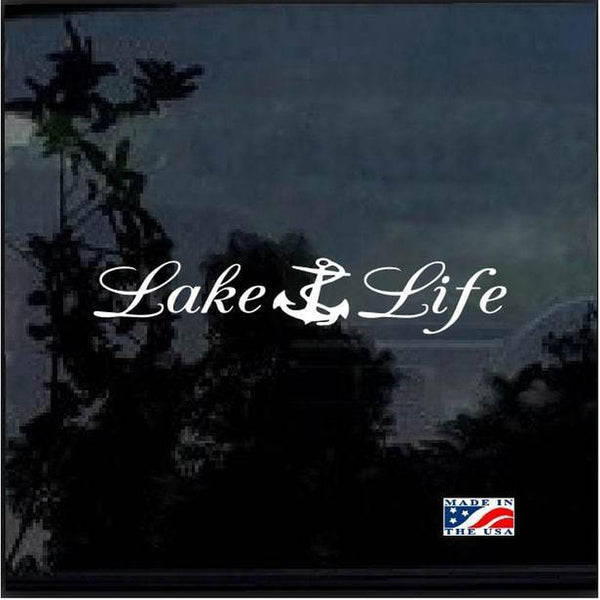 Lake Life Anchor Window Decal Sticker