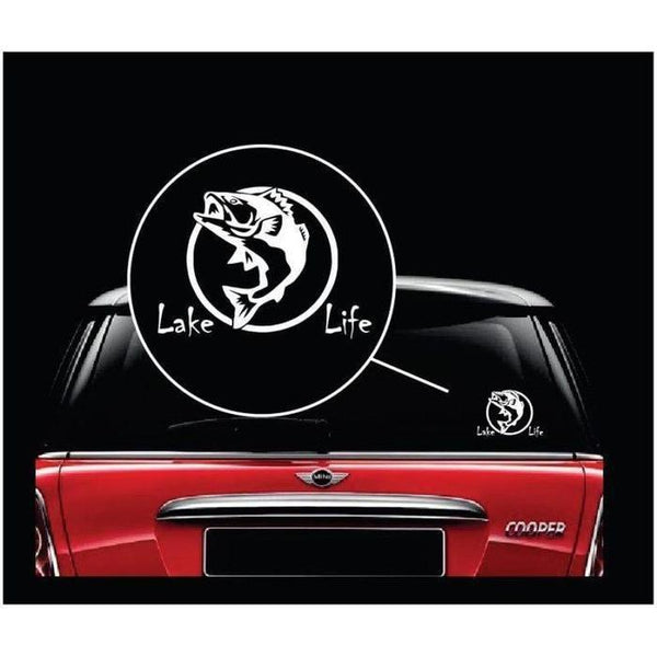 Lake Life Bass Window Decal Sticker A2