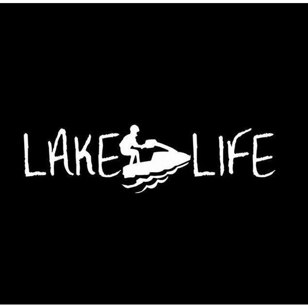 Lake Life Jet Ski ii Window Decal Sticker