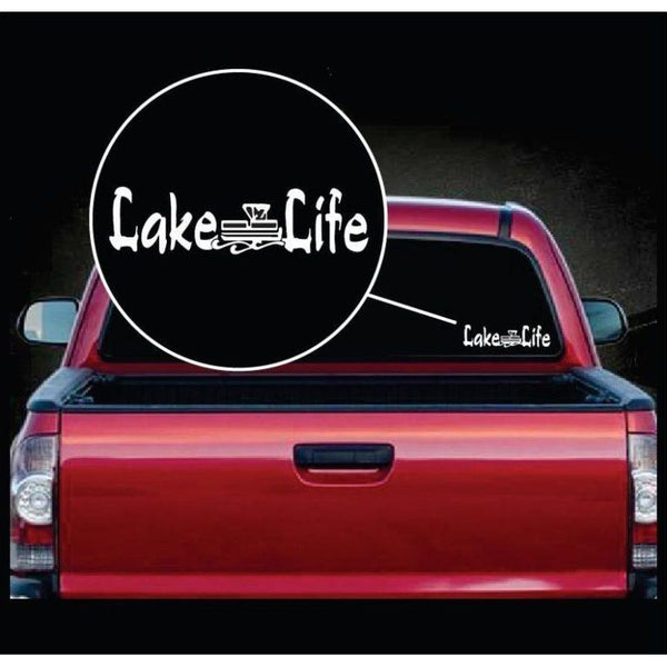 Lake Life Pontoon Boat Window Decal Sticker