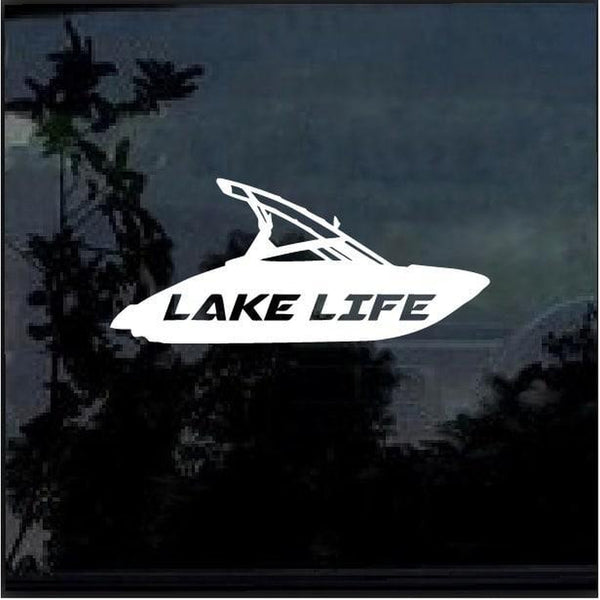 Lake Life Ski Boat Window Decal Sticker