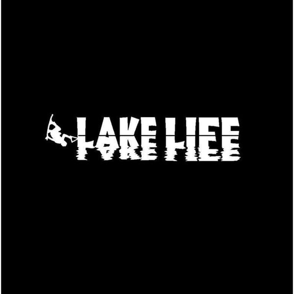 Lake Life wake board Window Decal Sticker