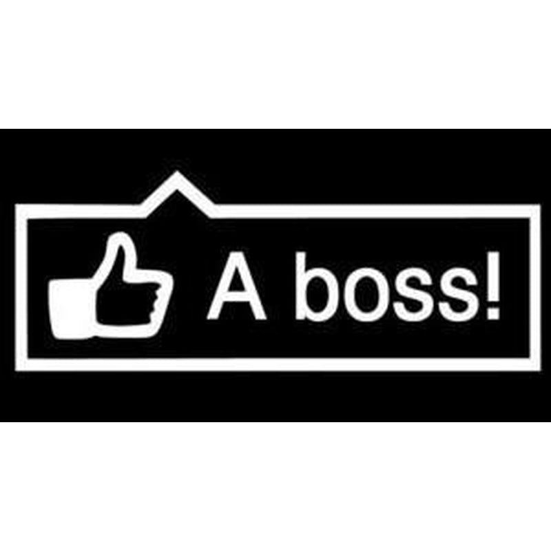 Like a Boss Funny JDM Car Window Decal Stickers