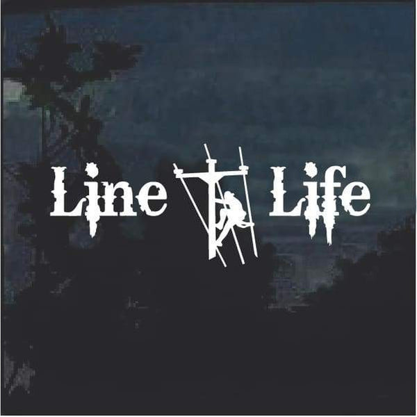 Line Life Lineman Decal Sticker A2