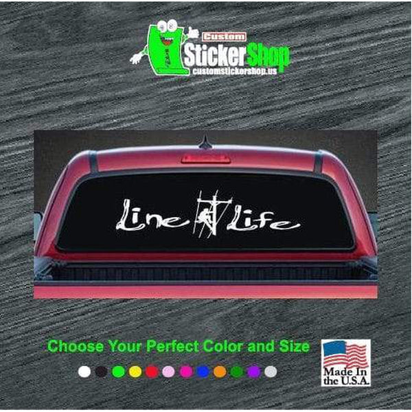 Line Life Lineman Rear Truck Decal Sticker
