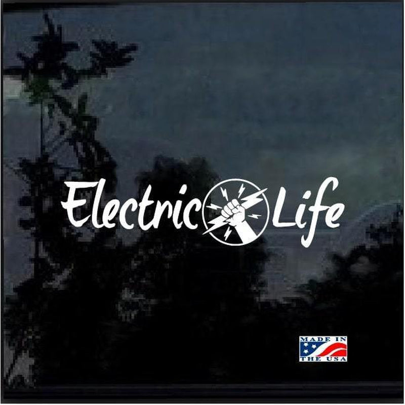 Lineman Decal – Electric Life Lineman Sticker a3