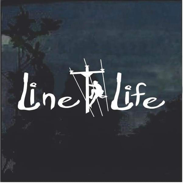 Lineman Decal – Line Life Lineman Sticker