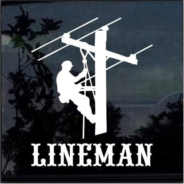 Lineman Decal – Lineman Electrician Sticker a2